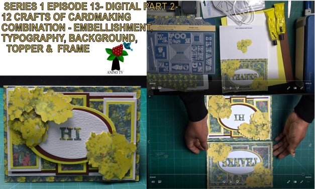 12 Crafts of Cardmaking, Digital Craft, Photographic Combination Episode 13 part 2 Handmade card