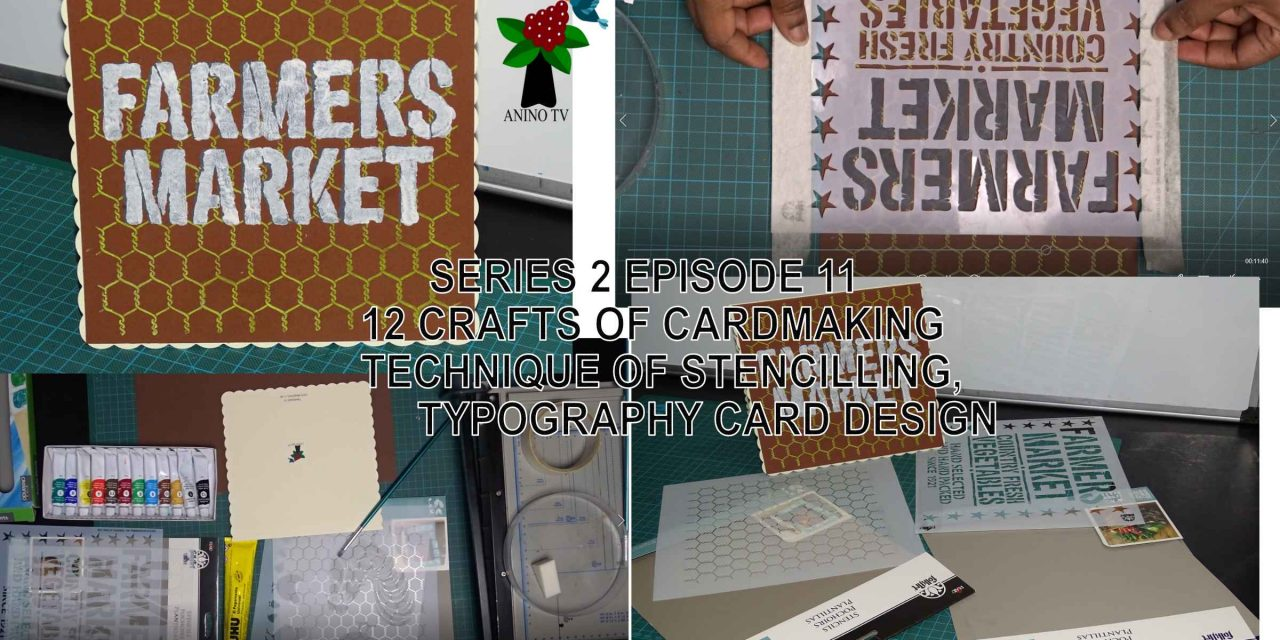 12 Crafts of Cardmaking, Stencilling Technique, Typography Card Design