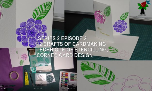 12 Crafts of Cardmaking, Technique of Stencilling, Corner Card Design