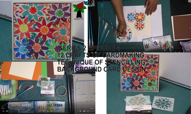 12 Crafts of Cardmaking, Stencilling, Background Card Design
