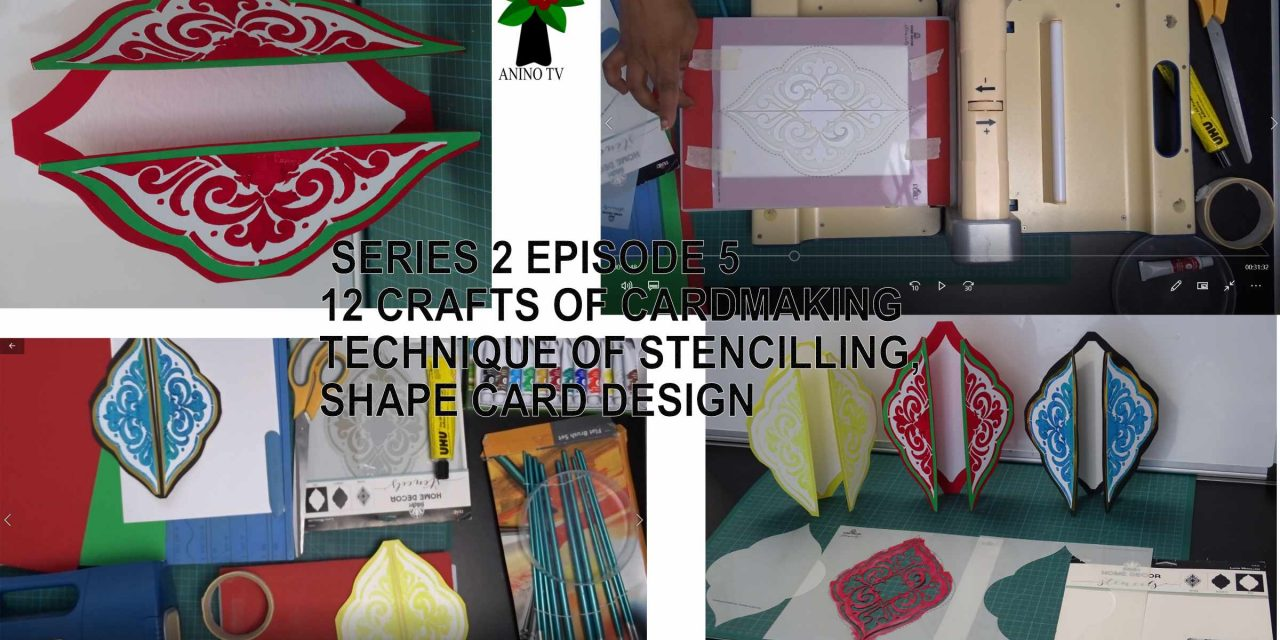 12 Crafts of Cardmaking, Stencilling, Shape Card Design