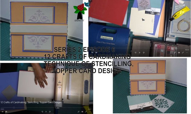 12 Crafts of Cardmaking, Stencilling, Topper Card Design