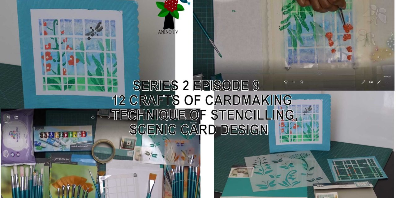12 Crafts of Cardmaking, Stencilling Technique, Scenic Card Design