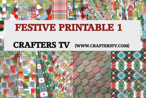 Free Printable /Craft Papers: Free festive printable Set 1