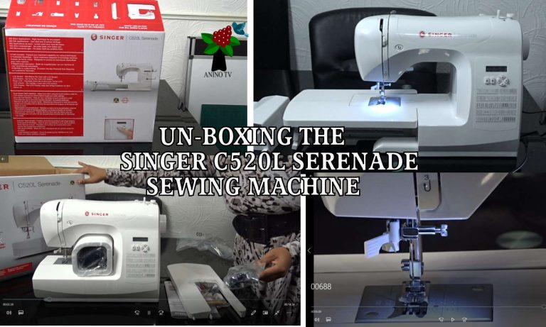 Un-boxing the Singer C520L Serenade sewing machine now on Anino TV YouTube