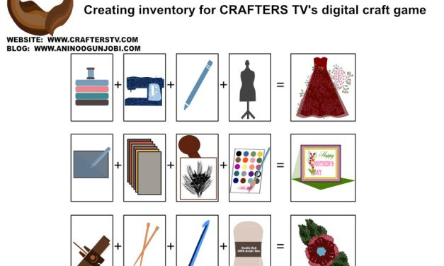 Designing Inventory for Crafters TV's craft games